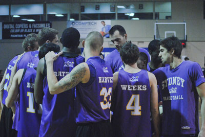 Sydney Kings huddle