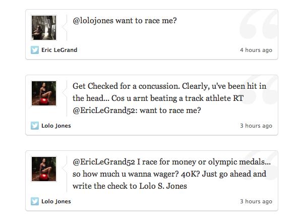 Lolo Jones sends terribly unfortunate tweets to Eric LeGrand