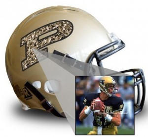 Your photo here Purdue helmet Trefzger