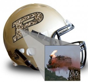 Your photo here Purdue helmet train crash