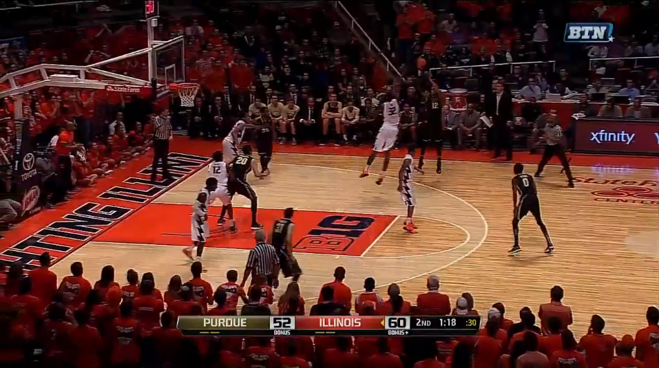 6 edwards three after offensive rebound made