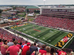 Byrd Stadium, home of the Maryland Terps