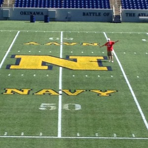 Representing Buckeyenation on the 50 yard line at Navy Marine Corps Memorial Stadium