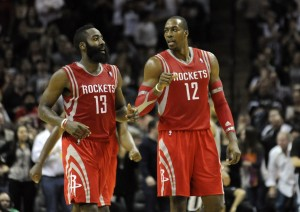 Dwight Howard has not seen Stan Van Gundy on a court in a while. Maybe they will share a Diet Pepsi. Photo by Brendan Maloney-USA TODAY Sports.