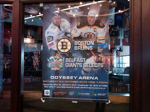 Belfast Giants vs. Boston Bruins poster