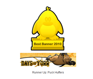 2010 Bloguin Best Banner award