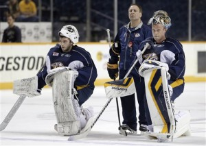 Mitch Korn has developed many winning goaltenders in Nashville (AP Photo/Mark Humphrey)