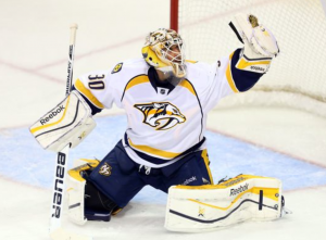 Carter Hutton is back, and it's a big deal. (Bruce Fedyck, USA TODAY Sports)
