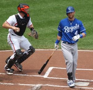 Kansas City Royals left fielder Alex Gordon (4)