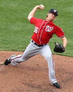 Washington Nationals relief pitcher Tyler Clippard (36)
