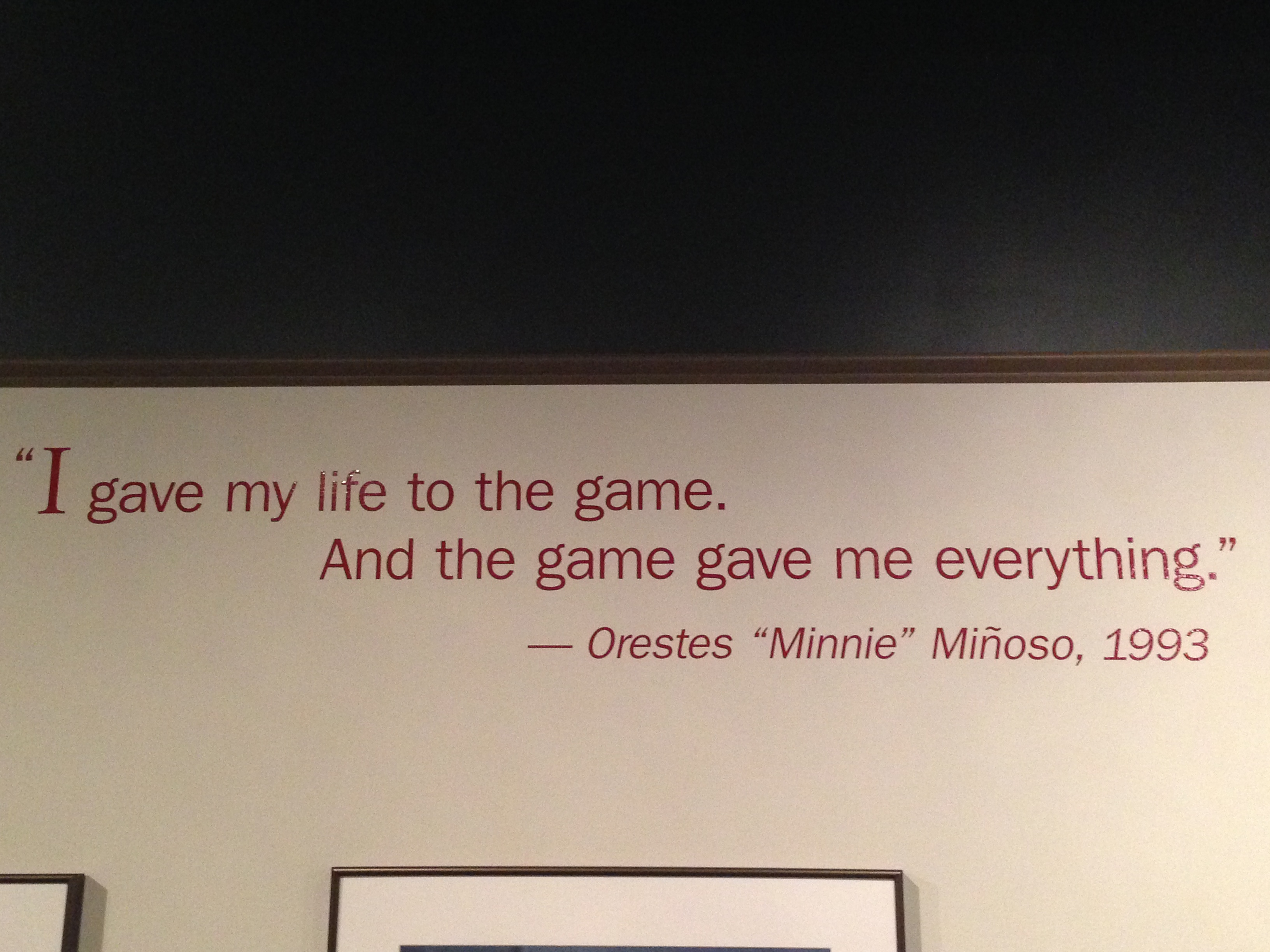 Baseball Quote Minnie Minoso Hall Of Fame Worthy  Grab Some Bench