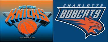 Knicks play Charlotte Bobcats