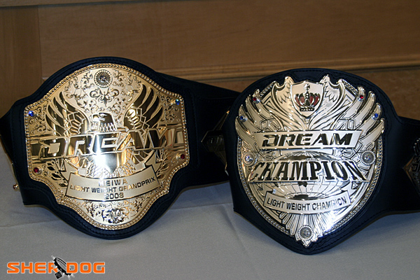 dream lightweight championship belts