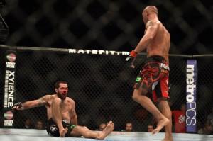 robbie lawler knocks down matt brown ufc on fox: lawler vs brown