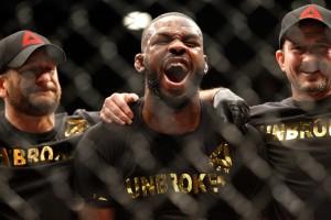 ufc 182 fighter pay - jon jones celebrates win over daniel cormier