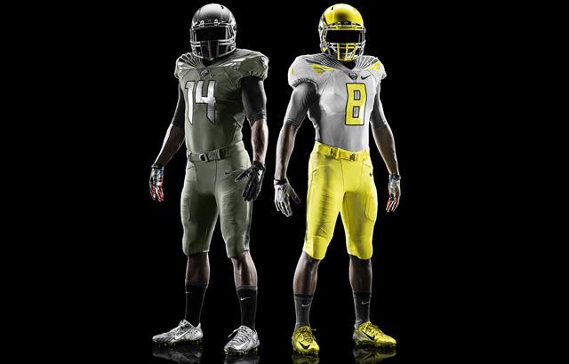 "Nike Oregon Ducks 2014 Spring Football ""Salute The Day"" Uniforms"
