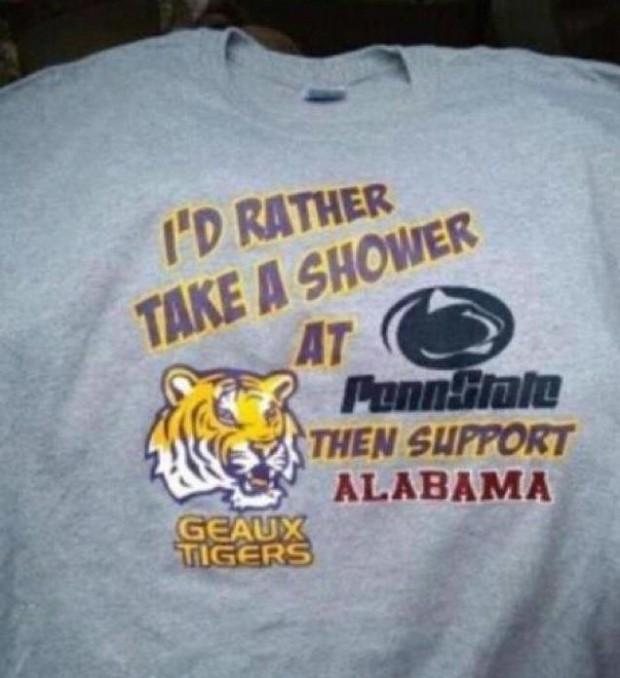 "LSU ""shower"" t-shirt"