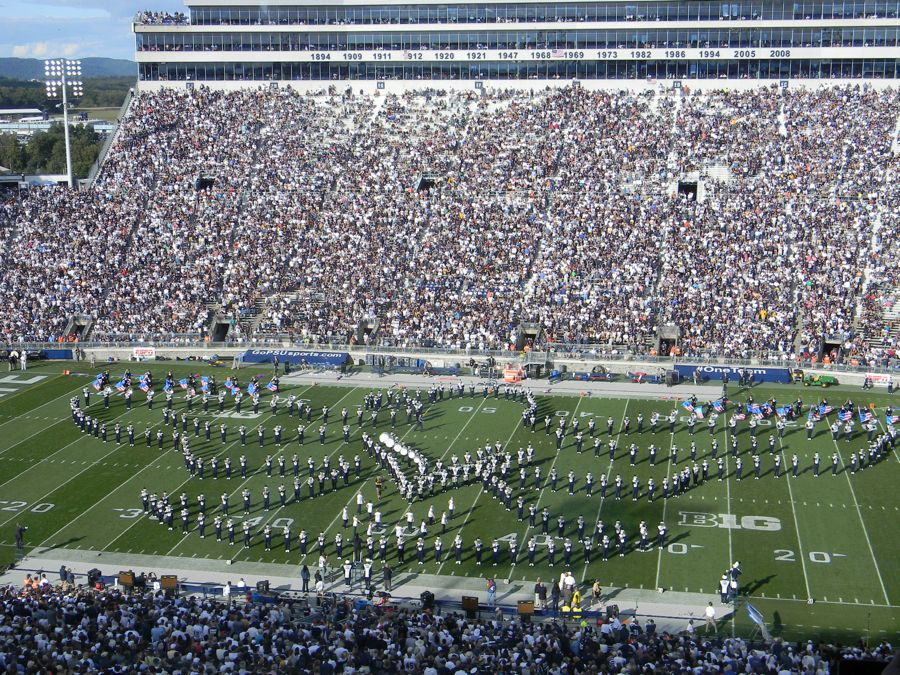 Penn State Blue Band salutes Marines