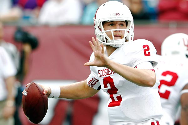 Indiana quarterback Cameron Coffman
