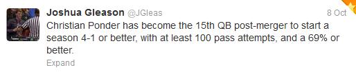 Josh Gleason Tweet