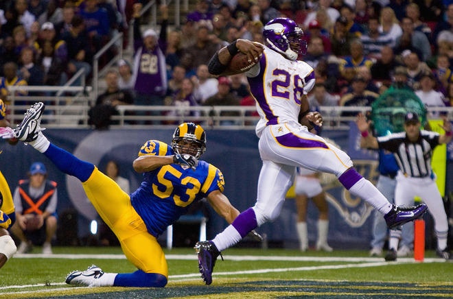 Adrian Peterson Rams Running
