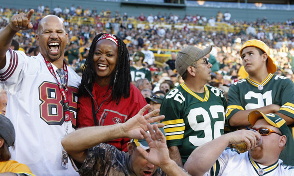 49ers and Packers fans