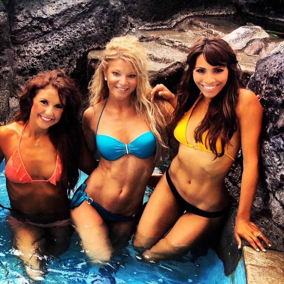 Minnesota Vikings cheerleaders in swimsuits