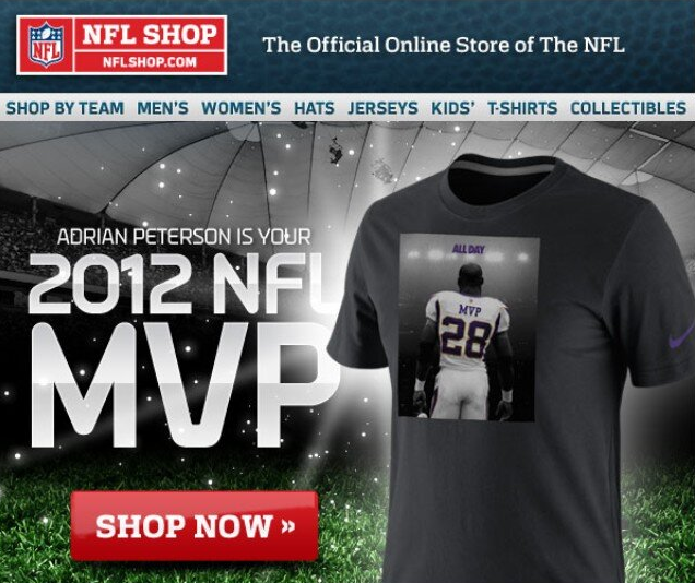 Adrian Peterson MVP Shirt