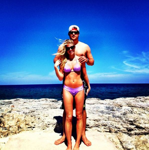 Matthew Stafford and Kelly Hall
