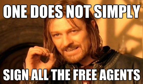 Boromir NFL Free Agency