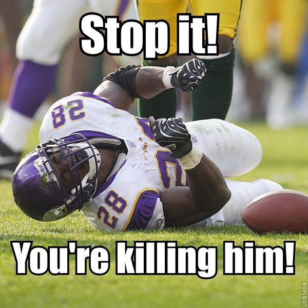 Vikings kicking Adrian Peterson