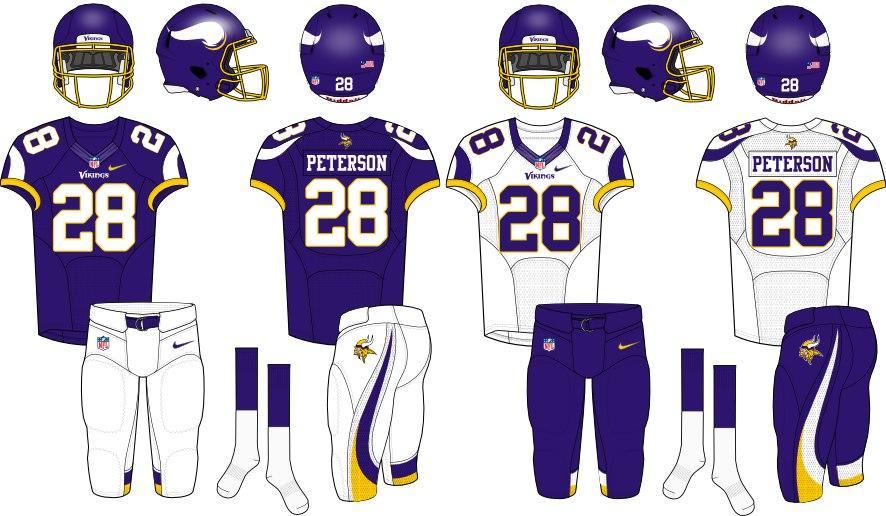 Vikings uniform mock up