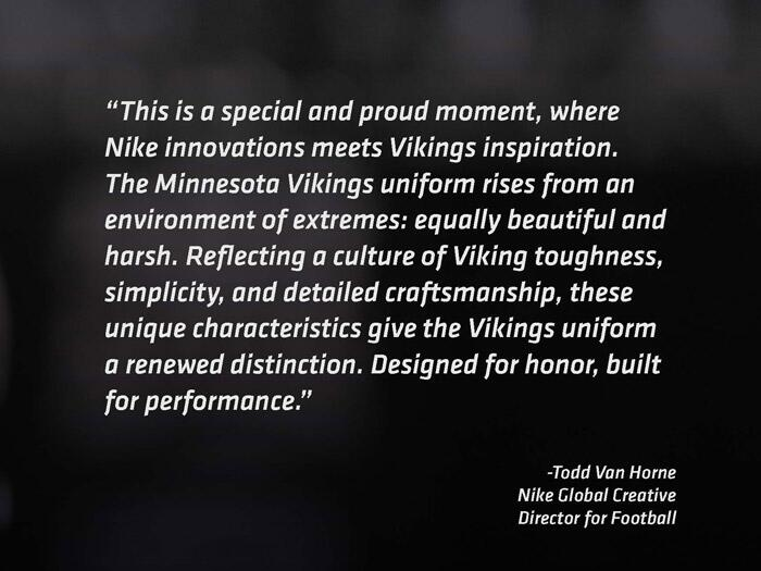 Nike Quote about Vikings Uniforms