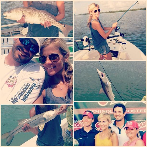 More Samantha Ponder fishing