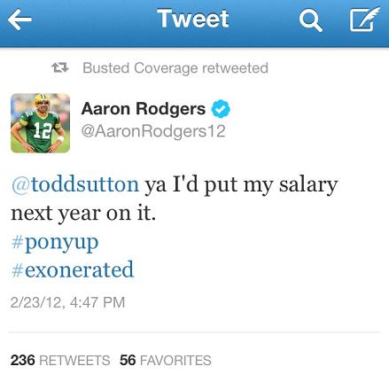 Rodgers Tweets Braun