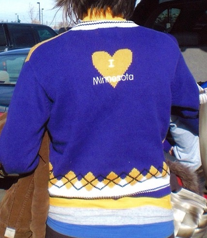 Minnesota Football Sweater Back