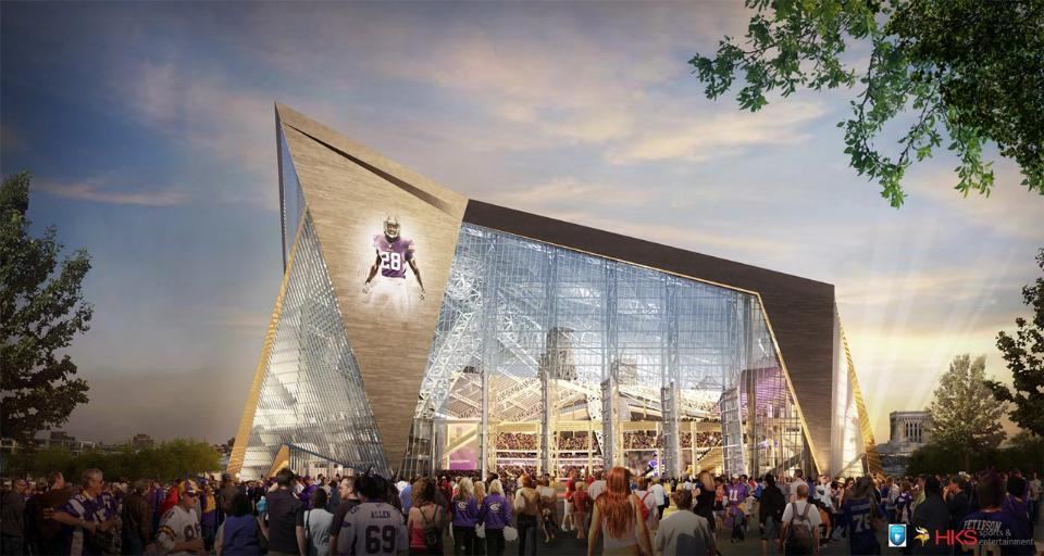 Vikings stadium designs