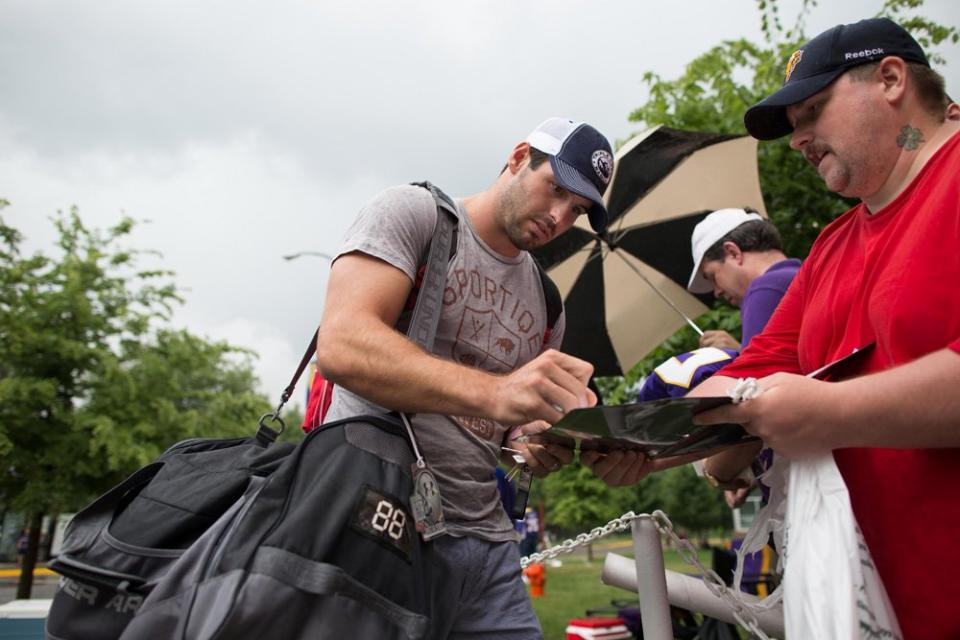Christian Ponder Vikings Camp 2013