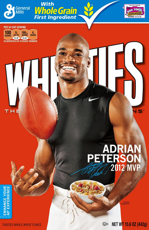Adrian Peterson Wheaties Full Cover