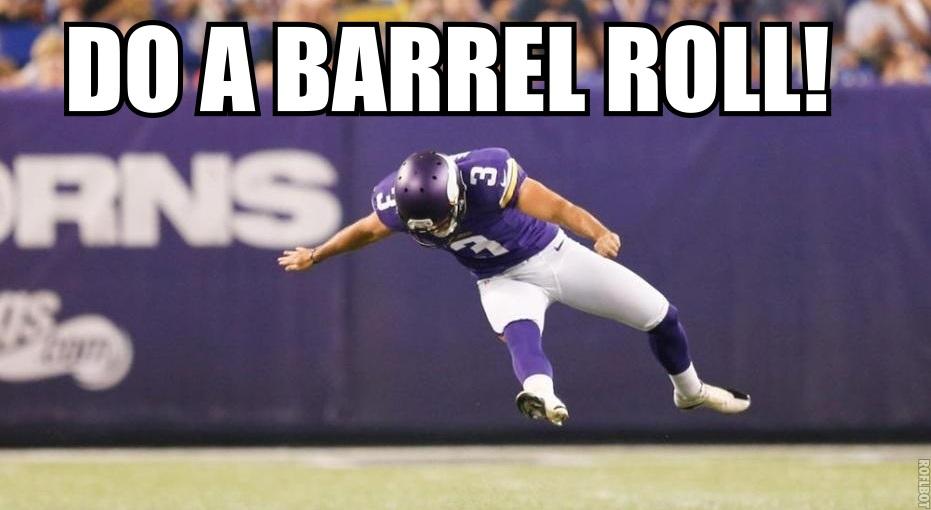 Blair Walsh do a Barrel Roll