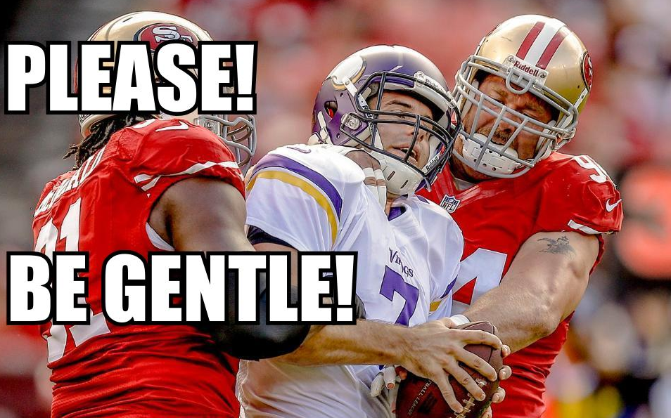 Ponder sacked by 49ers