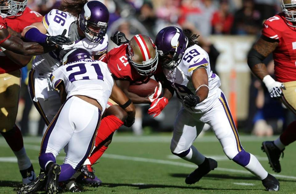 Vikings defense vs the 49ers
