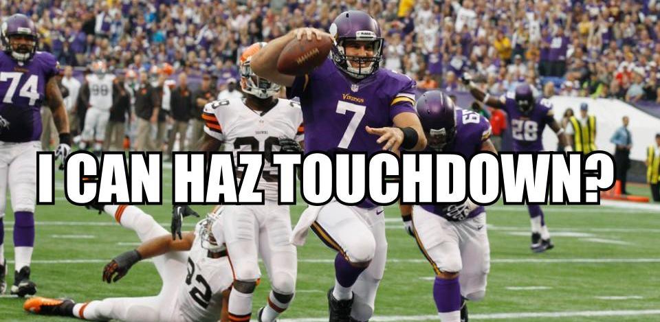 Christian Ponder touchdown
