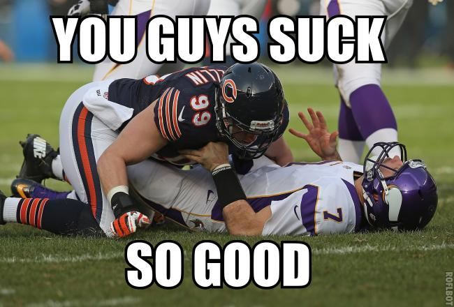 Ponder Sacked by Bears