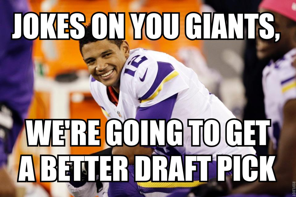 Josh Freeman Giants Vikings