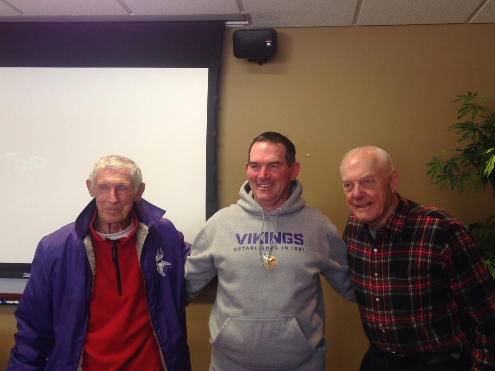Mike Zimmer and Bud Grant