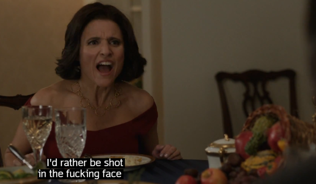 veep shot in the face
