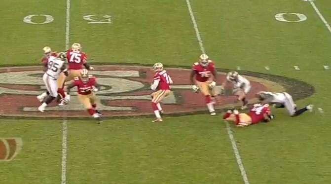 12-yard pass to Kyle Williams