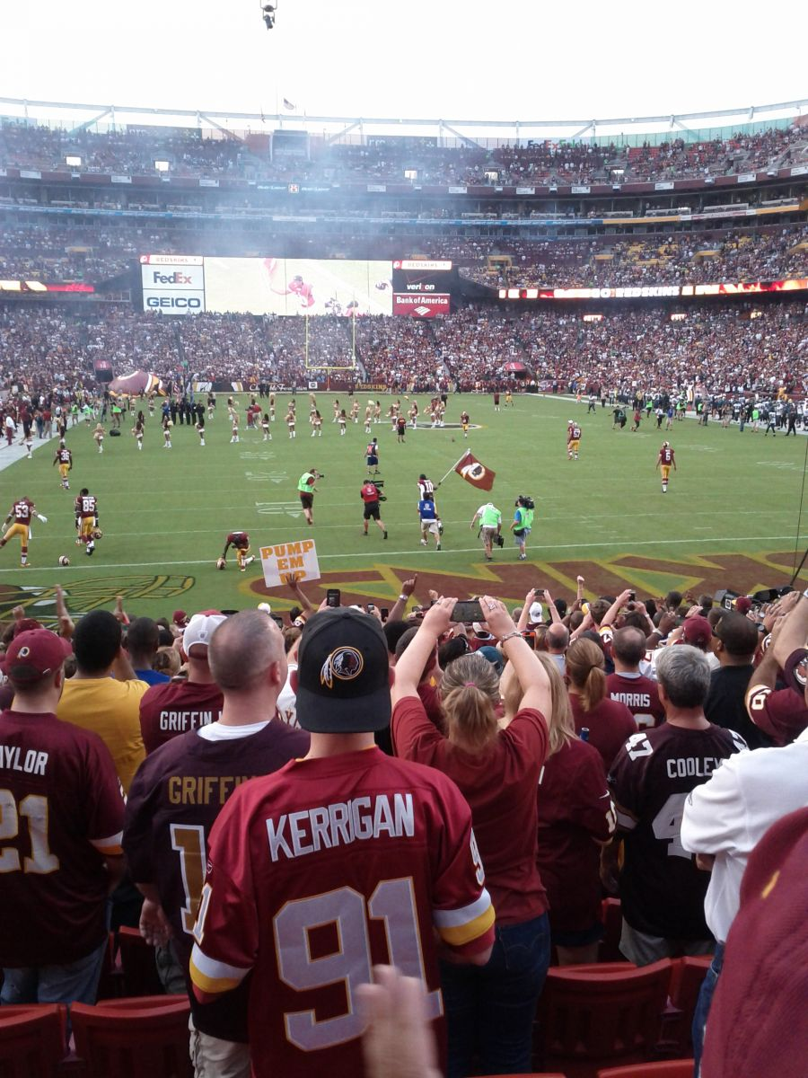 Redskins fan submitted photo, Eagles at Redskins 2013