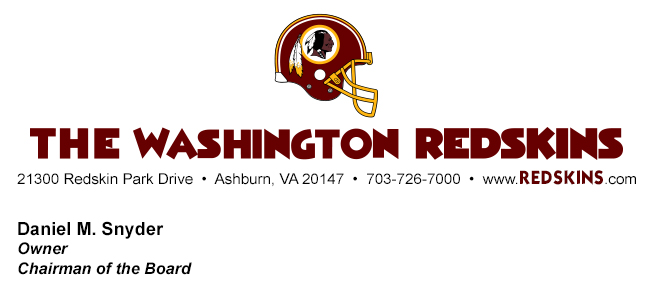 Redskins letterhead